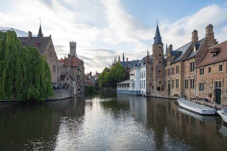 Bruges city skyline in Bruges, Belgium.