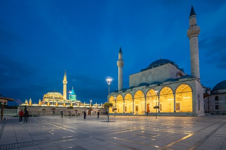 Selimiye Mosque and Mevlana Museum in Konya, Turkey. 新聞圖片