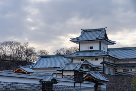 Kanazawa, Japan - February 14, 2019: Kanazawa Castle in Kanazawa, Ishikawa Prefecture, Japan.