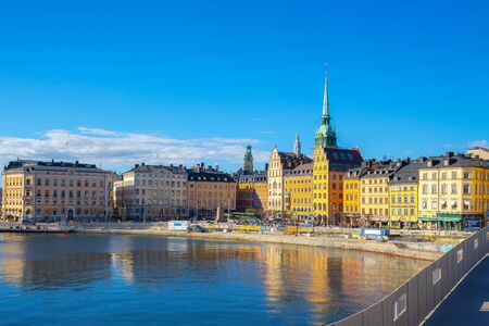 Stockholm skyline with view of Gamla Stan in Stockholm, Sweden. Stockfoto