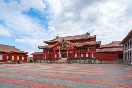 Main Hall of Shuri Castle in Okinawa, Japan. 版權商用圖片