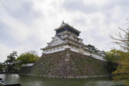 Kitakyushu, Japan - April 17, 2019: Kokura Castle landmark in Kitakyushu, Japan.