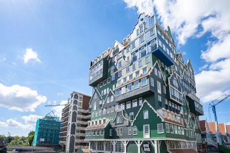 Zaandam, Netherlands - May 13, 2019: Zaandam modern buidings in North Holland, Netherlands