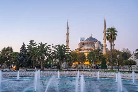 Sultan Ahmed Mosque in Istanbul city, Turkey.