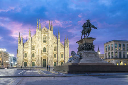 Milan Cathedral the famous place in Milan, Italy. 版權商用圖片