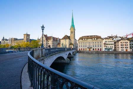 Fraumunster church the famous place of Zurich, Switzerland. 版權商用圖片