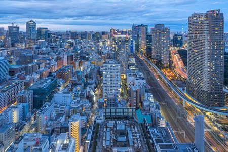 Tokyo city skyline with landmark buildings in Tokyo, Japan. 版權商用圖片