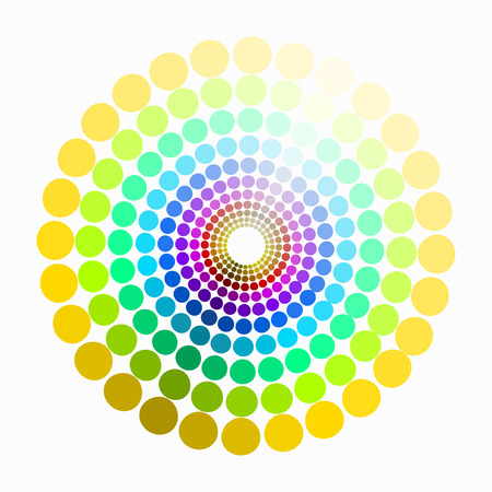transient: color circle colors red yellow green purple blue pattern. vector illustration