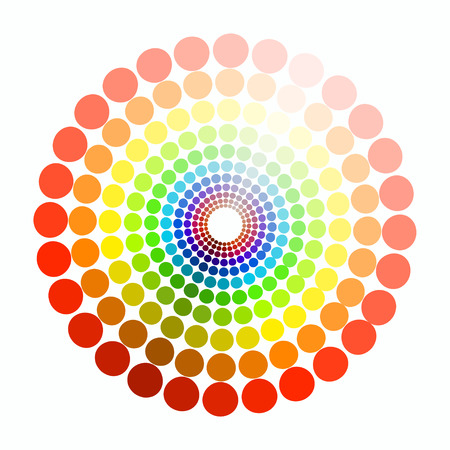 transient: color circle colors red yellow green purple blue pattern. vector illustration2 Illustration