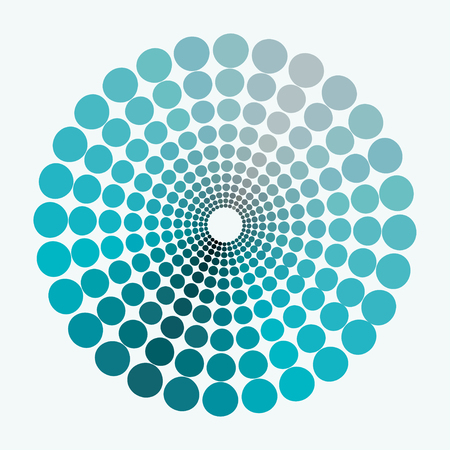 transient: color circle dim shades of blue pattern. vector illustration