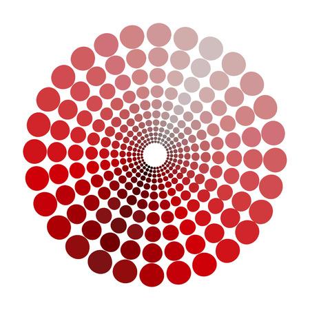 transient: color circle dim shades of red pattern. vector illustration Illustration