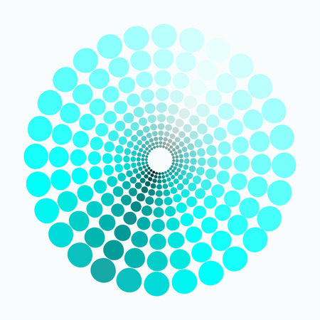 transient: color circle pattern shades of blue. vector illustration