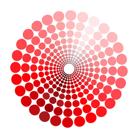 transient: color circle pattern shades of red. vector illustration