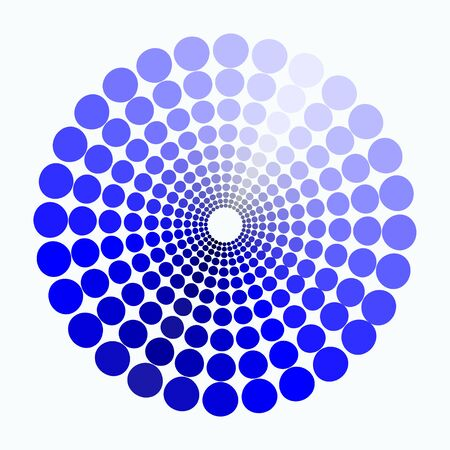 transient: color circle shades of blue pattern. vector illustration