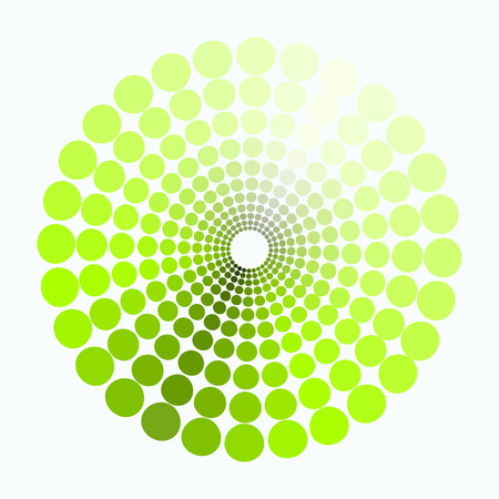 transient: color circle shades of green pattern. vector illustration Illustration