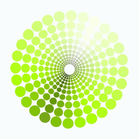 transient: color circle shades of green pattern. vector illustration Illustration