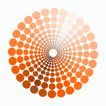 transient: color circle shades of orange pattern. vector illustration Illustration