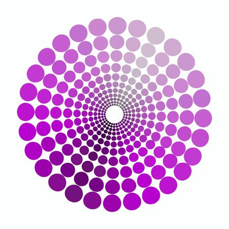 transient: color circle shades of purple pattern. vector illustration