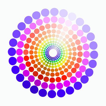 green purple: color circle colors red yellow green purple blue pattern. vector illustration3