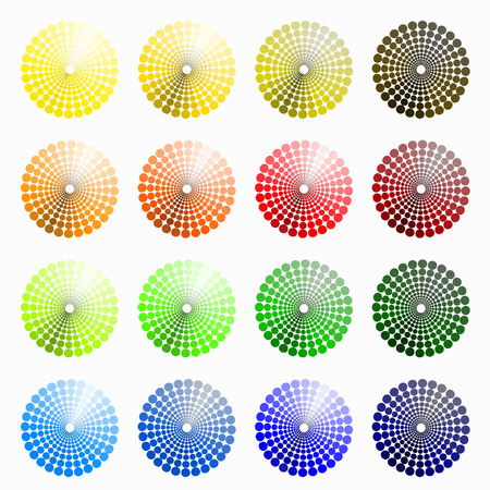 transient: a set of circular colored yellow, orange. vector illustration Illustration