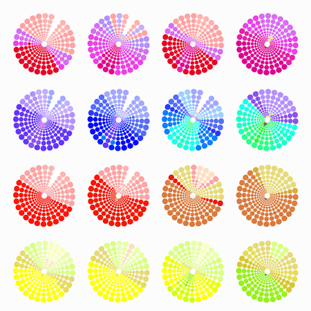 transient: Set circular color different shades of red. vector illustration Illustration
