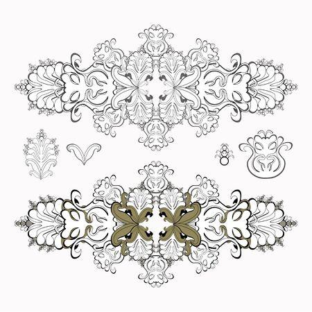 solemn: solemn black and white pattern set vector illustration