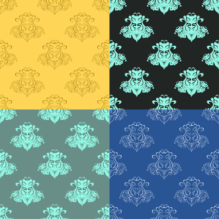 solemn: solemn black blue seamless pattern vector illustration Illustration