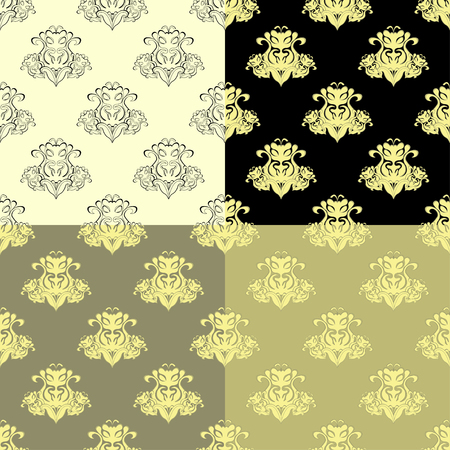 solemn: solemn black brown seamless pattern vector illustration