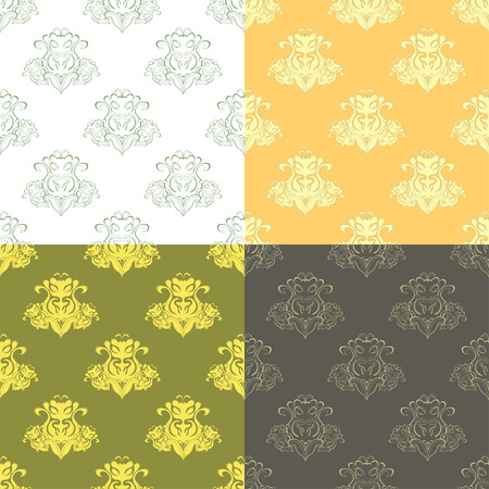 solemn: solemn black ocher pattern seamless vector illustration