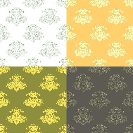 solemn: solemn black ocher pattern seamless vector illustration