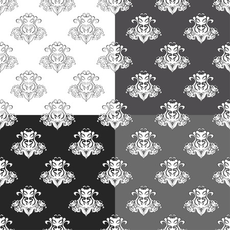 solemn: solemn black white seamless pattern vector illustration