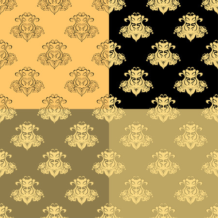 solemn: solemn black yellow pattern seamless vector illustration