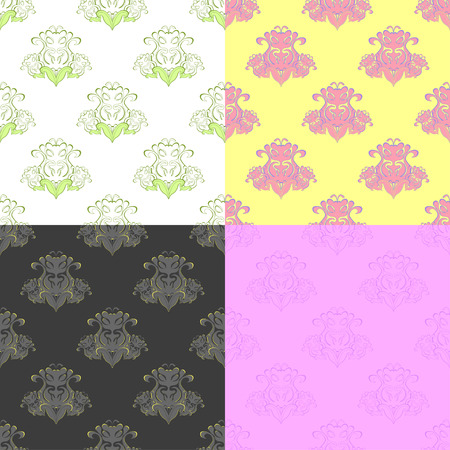 solemn: solemn color pink yellow pattern seamless vector illustration