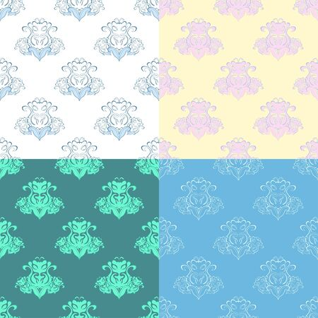 solemn: solemn colored bright seamless pattern vector illustration