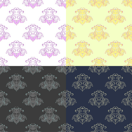 solemn: solemn colored stylish seamless pattern vector illustration Illustration