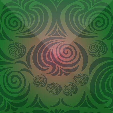 brink: floral ornament with Victorian brink green vector illustration