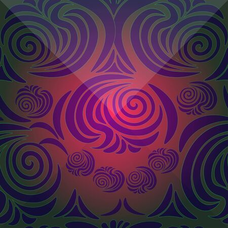 brink: floral pattern with brink dark vector illustration