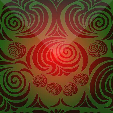 brink: floral pattern with brink red and green vector illustration Illustration