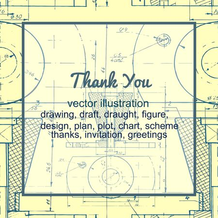 yellow vector: pattern drawing for thanks, yellow vector illustration