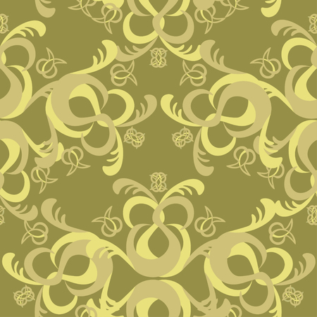 solemn: The solemn seamless pattern brown vector illustration Illustration