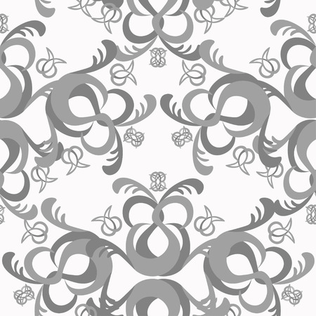 solemn: The solemn seamless pattern of black and white vector illustration