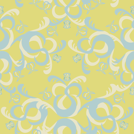 solemn: The solemn seamless pattern of blue and yellow vector illustration Illustration
