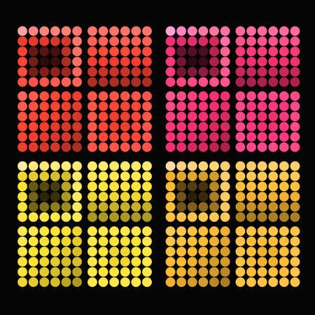 warm colors: un conjunto de círculos de colores brillantes con colores cálidos ilustración vectorial