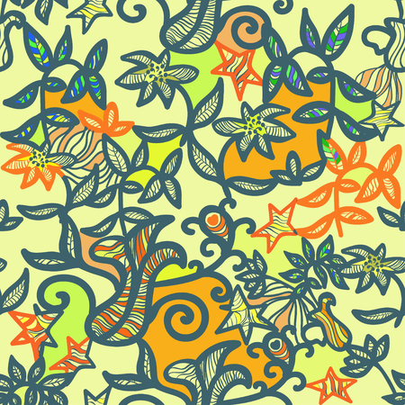 openwork: seamless pattern an openwork color vector illustration