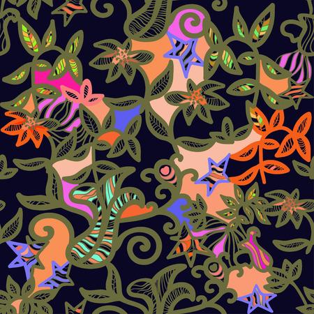 openwork: seamless pattern an openwork golden color vector illustration Illustration
