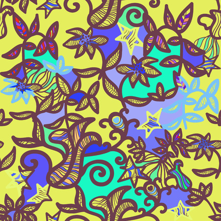 openwork: seamless pattern an openwork yellow vector illustration Illustration
