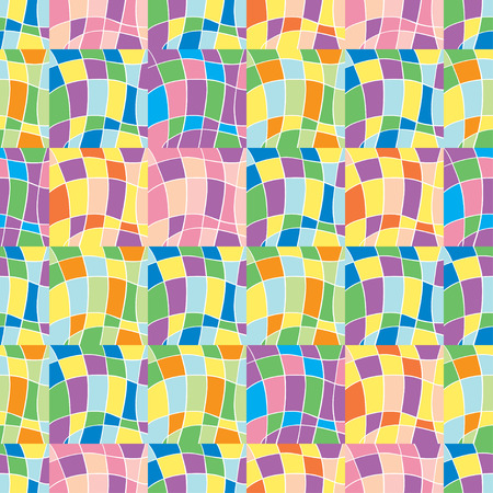 shreds: seamless pattern with colored shreds vector illustration