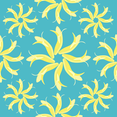 seamless pattern with a banana vector illustration