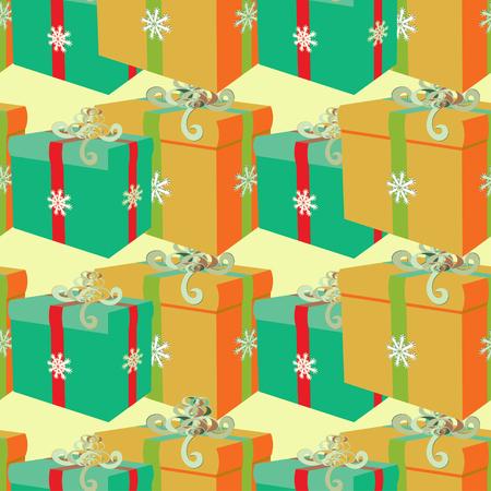 Modèle sans couture avec des cadeaux de l'illustration vectorielle de Noël