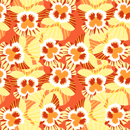 violet flowers: Seamless pattern violet flowers, pansies vector illustration Illustration